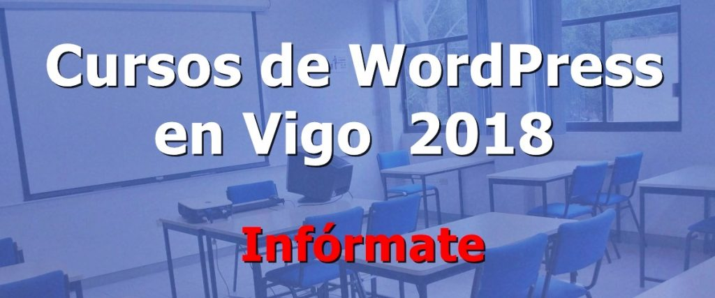 cursos de wordpress en vigo 2018